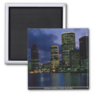 Brisbane skyline at dusk, Australia Square Magnet