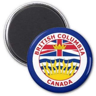 BRISTISH COLUMBIA, CANADA 6 CM ROUND MAGNET