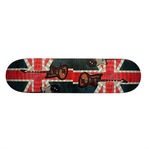 bristish flag guitar UK union jack fashion Skateboards
