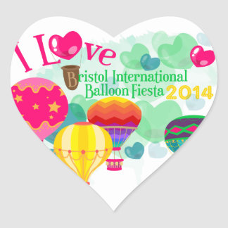 Bristol Balloon Fiesta Heart Stickers
