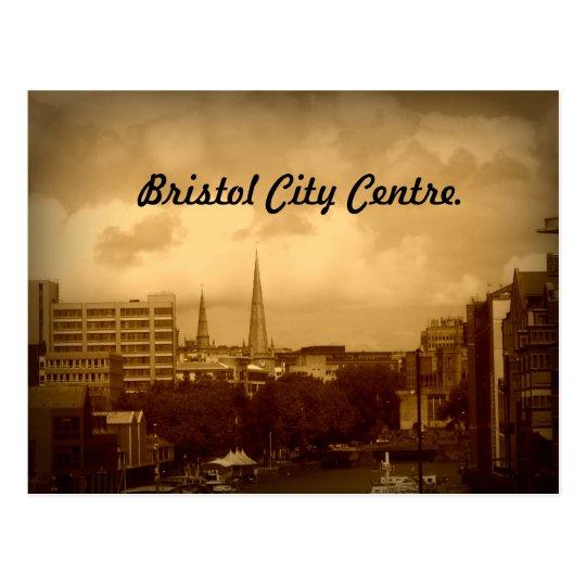 Bristol City Centre. In Sepia. Postcard