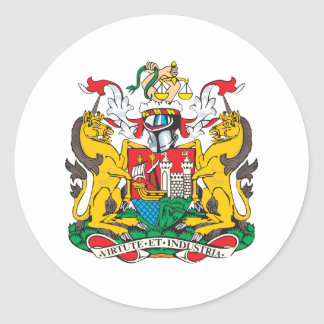 Bristol Coat Of Arms Classic Round Sticker