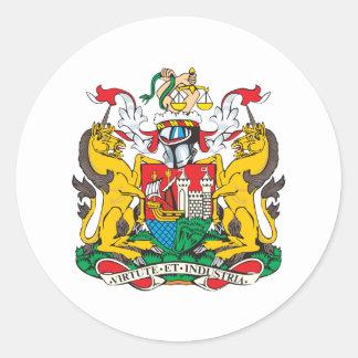 Bristol Coat Of Arms Round Sticker