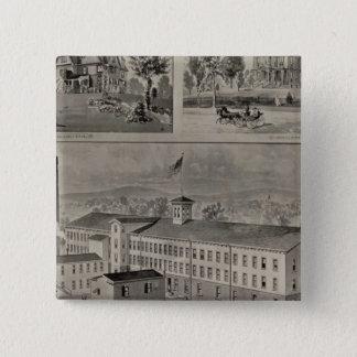 Bristol Connecticut Illustration 15 Cm Square Badge