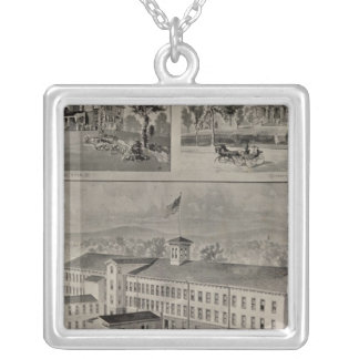Bristol Connecticut Illustration Silver Plated Necklace
