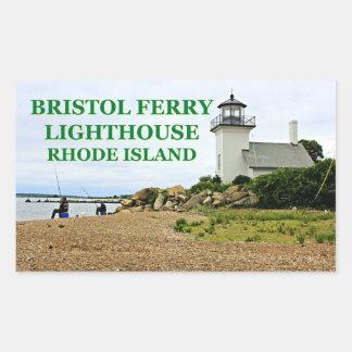 Bristol Ferry Lighthouse, Rhode Island Rectangular Sticker
