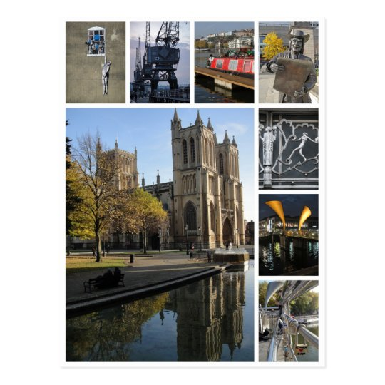 Bristol multi-image portrait view postcard
