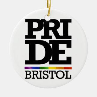 BRISTOL PRIDE -.png Round Ceramic Decoration
