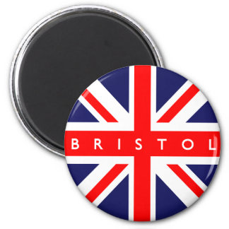 Bristol UK Flag 6 Cm Round Magnet