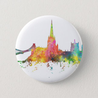 BRISTOL, UK SKYLINE 6 CM ROUND BADGE