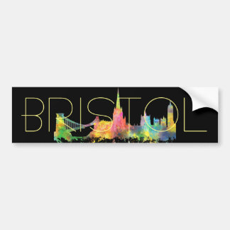 BRISTOL, UK SKYLINE BUMPER STICKER