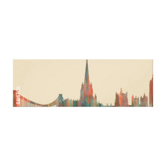 BRISTOL, UK SKYLINE CANVAS PRINT