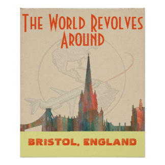 BRISTOL, UK SKYLINE POSTER