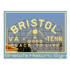 Bristol, VA & TN Historic Sign Postcard
