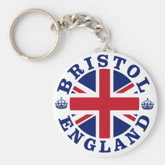 Bristol Vintage UK Design Basic Round Button Key Ring