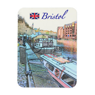 Bristol Wharf Rectangular Photo Magnet