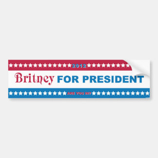 Brit for President! Bumper Sticker