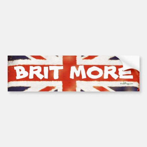 BRIT MORE Vintage Union Jack Bumper Sticker