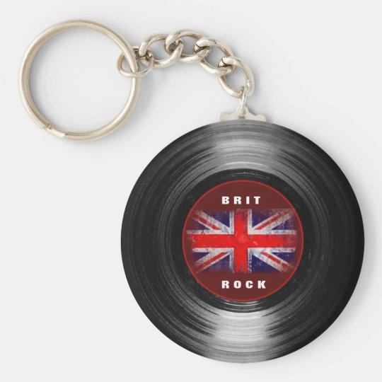 BRIT ROCK BASIC ROUND BUTTON KEY RING