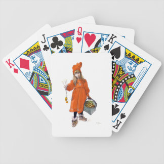 Brita (Iduna) with Candles and  Apples Poker Deck