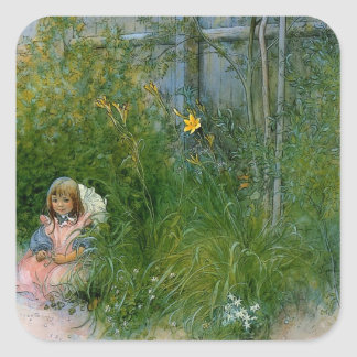 Brita in the Flower Bed c1897 Stickers