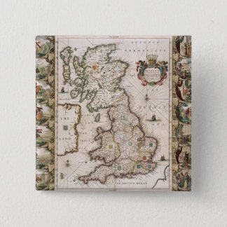 Britain As It Was Devided In The Tyme of the Engli 15 Cm Square Badge