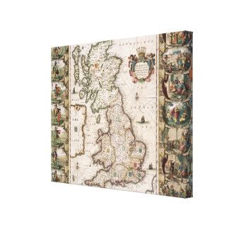 Britain As It Was Devided In The Tyme of the Engli Canvas Print