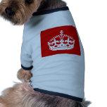 britain british crown queen doggie t shirt