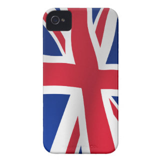Britain flag on a pole iPhone 4 cases