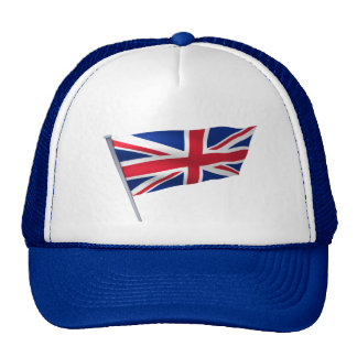 Britain flag on a pole hat