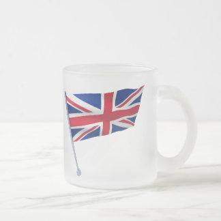 Britain flag on a pole coffee mugs