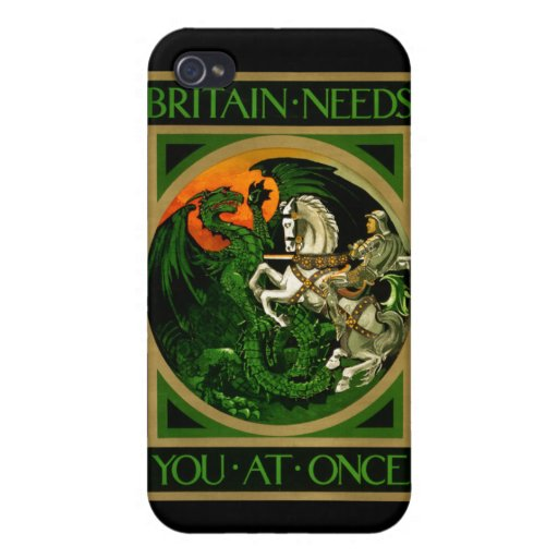 Britain needs you at once, WWI British War Poster iPhone 4/4S Covers