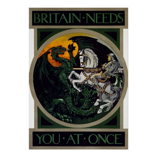 Britain Needs You At Once ~ WWI Recruitment