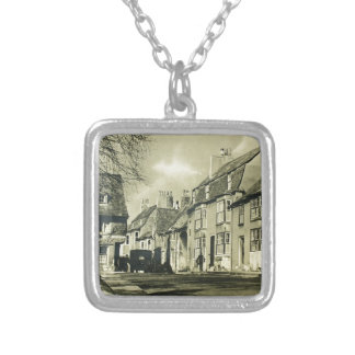 Britain - Vintage Travel Poster Silver Plated Necklace