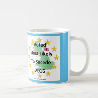 Britain Voted Most Likely to Secede 2016 White Coffee Mug