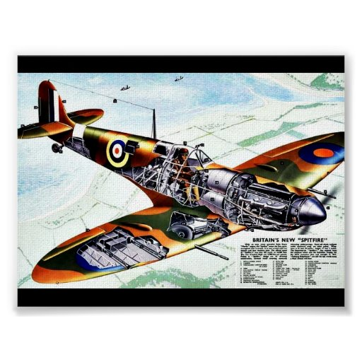 Britain's New Spitfire Poster