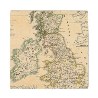 Britannia et Hibernia Wood Coaster