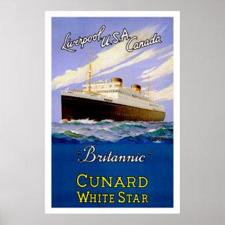 Britannic ~ Liverpool, USA, Canada Poster