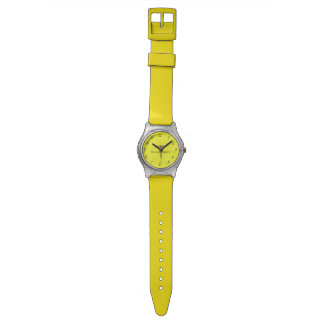 Brite Yellow Pebble Rubber Watch