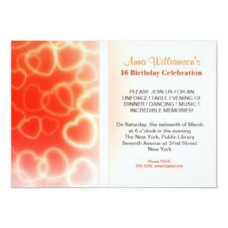brithday party modern 13 cm x 18 cm invitation card