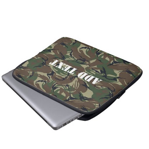 British 95 Forest Green Camouflage Computer Sleeves