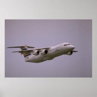British Aerospace 146 Whisperjet taking off, Biggi Poster