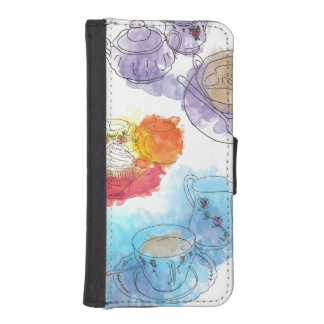 British Afternoon Tea iPhone SE/5/5s Wallet Case