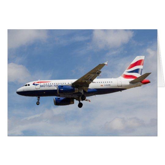 British Airways Airbus A319 Card