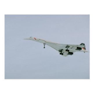 British Airways Concorde on final descent, Ottawa, Post Card