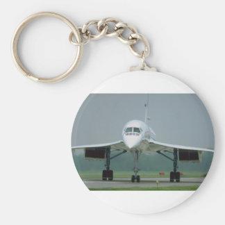 British Airways Concorde, on taxi way Basic Round Button Key Ring