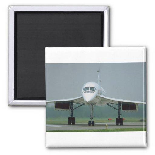 British Airways Concorde, on taxi way Fridge Magnets