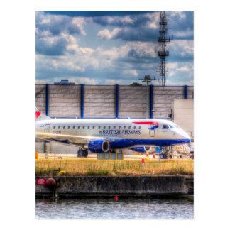 British Airways London city airport Postcard