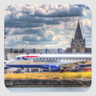 British Airways Square Sticker