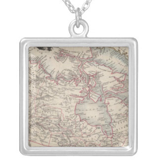 British America 2 Silver Plated Necklace